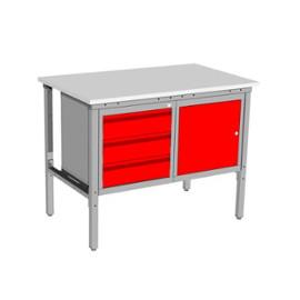 Stół warsztatowy SC-2 z dwiema szafkami