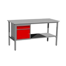 Stół ślusarski z szafką i półką