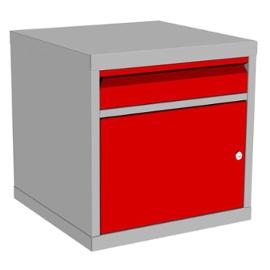 Szafka kontenerowa z szufladą i drzwiczkami