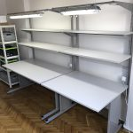 stoły montażowe z oświetleniem dla firmy z krakowa