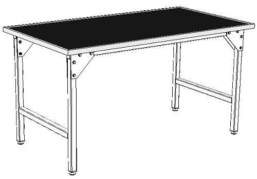 zastosowanie gumy olejoodpornej na blacie stołu warsztatowego i montażowego