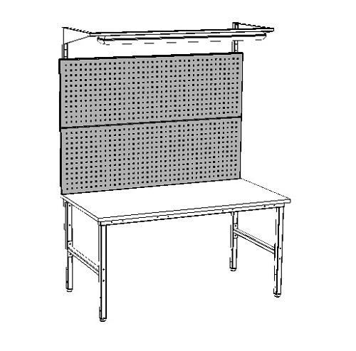 stół warsztatowy z panelem perforowanym