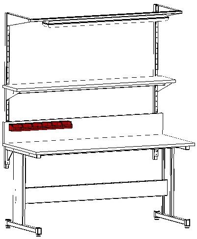 pojemniki magazynowe - zastosowanie do stołów warsztatowych i montażowych