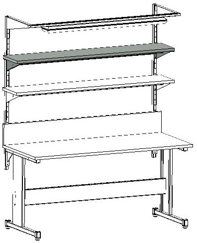 półka dodatkowa do stołu warsztatowego lub montażowego
