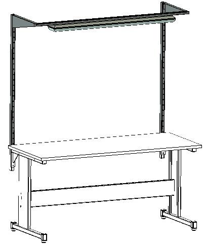 przykład podświetlenia w stole warsztatowym