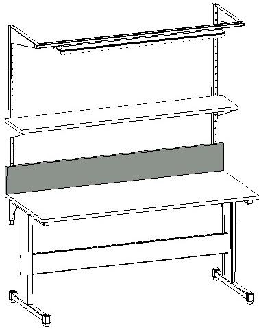 zastosowanie tylnej ścianki na stole warsztatowym i stanowisku montażowym