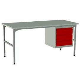 Lekki stół montażowy z szafką i 3 szufladami EC-3-0003