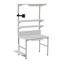 Podświetlany stół monterski i 2 półki metalowe EC-2-0005