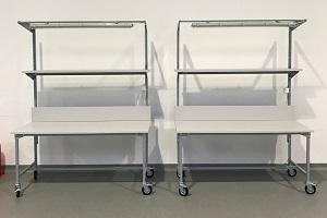 stoły montażowe na kołach skrętnych