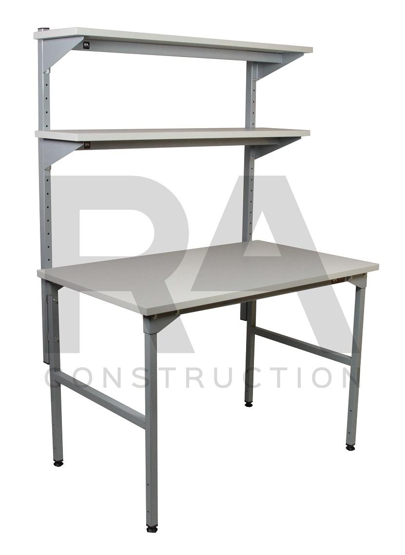 stół montażowy z 2 półkami regulowanymi skokowo ec 2 003