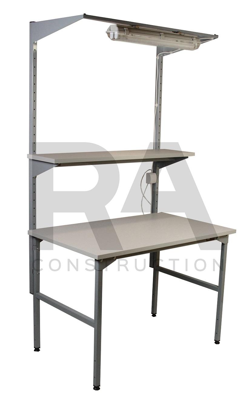 stół montażowy z oświetleniem i regulowaną półką skokowo ec 2 004