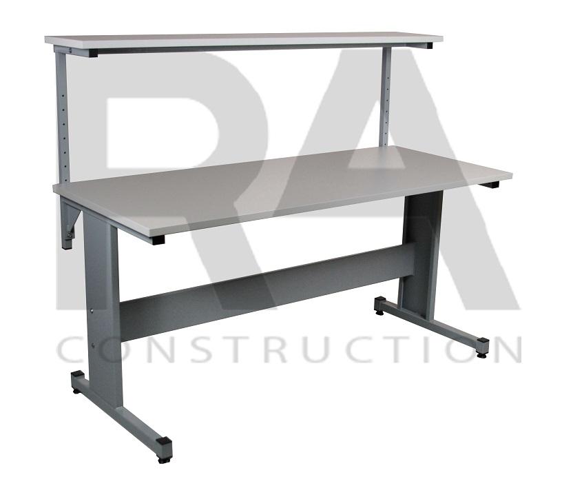 stół przemysłowy z półką nad blatem ac 3 0002