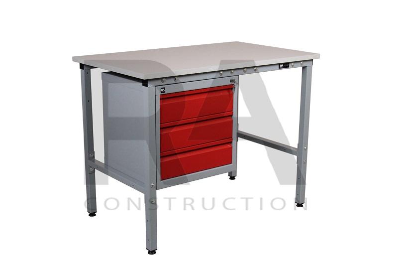 stół warsztatowy z szafką metalową realizacja