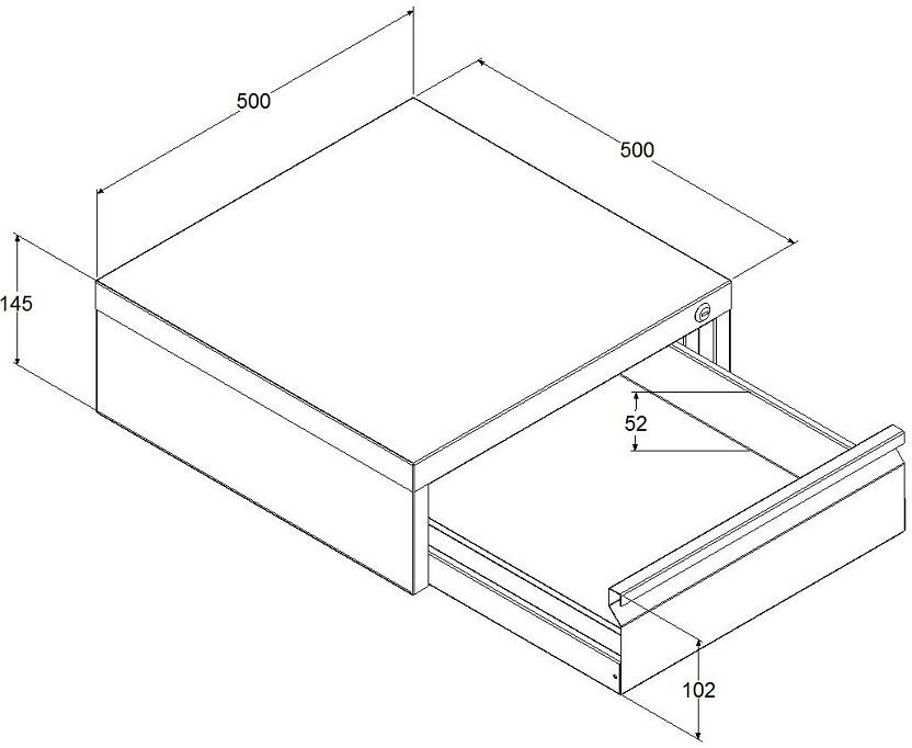 wymiary szuflady metalowej sc 001