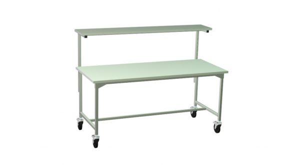 Mobilny stół z półką