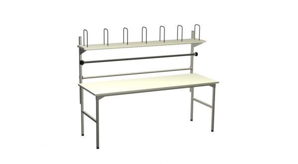 Duży stół do pakowania z półką
