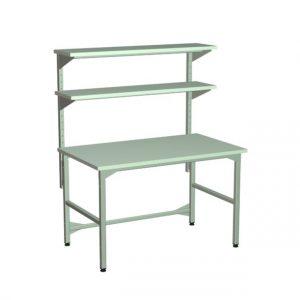 Stół regulowany z półkami