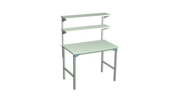 Stół roboczy z półkami