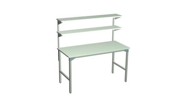Stół roboczy z 2 półkami