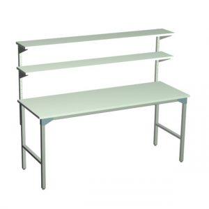 Stół ślusarski z 2 półkami