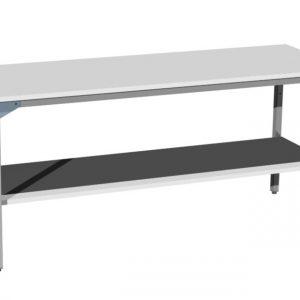 Duży stół warsztatowy z półką