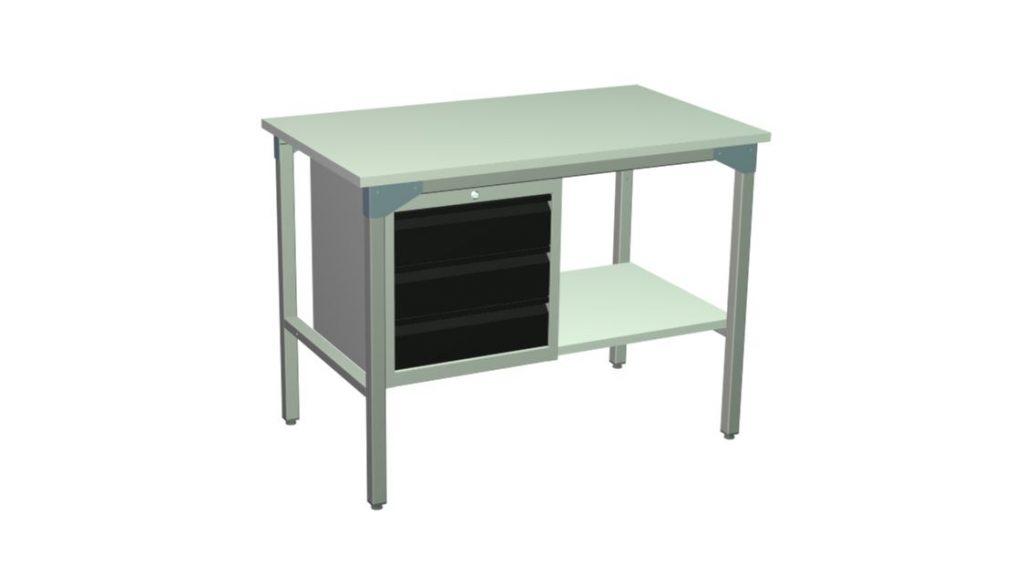stół warsztatowy roboczy z szufladami