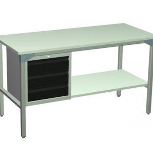 Stół roboczy z szufladami