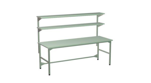 Stół produkcyjny z 2 półkami