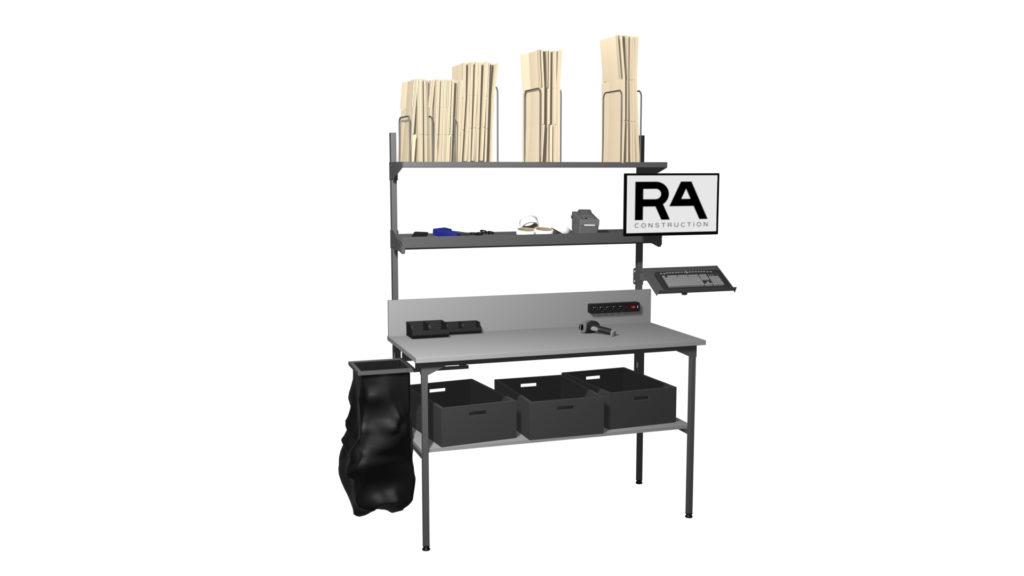 projekt stołu do pakowania paczek