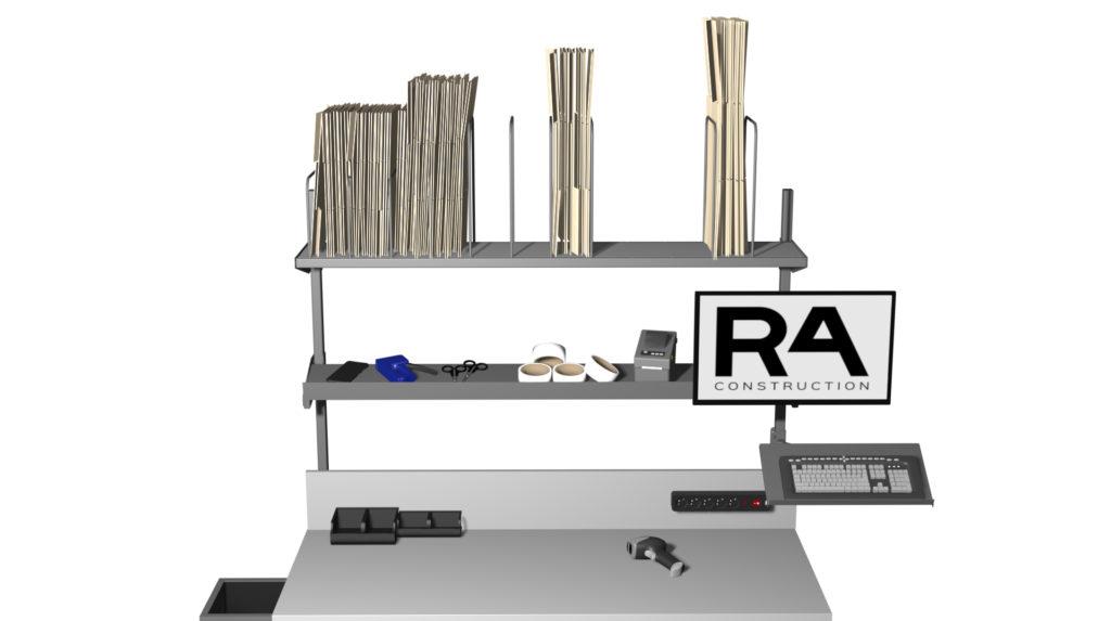 akcesoria stołów do pakowania paczek