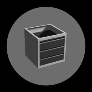 metalowa szafka z 3 szufladami ra construction