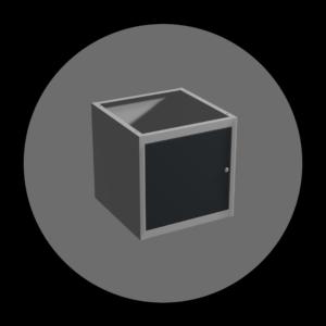 metalowa szafka z drzwiczkami